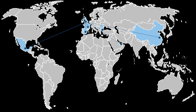 lean rcm world map