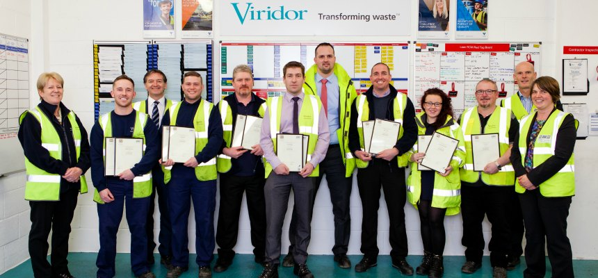 Viridor Lean RCM Team Presented with Qualification