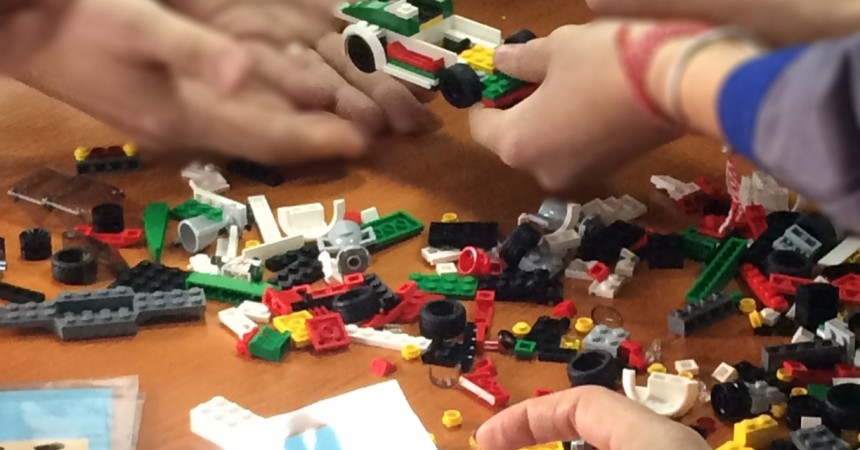 Lego Building for team work and learning about production